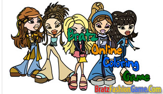 Bratz Online Coloring Game