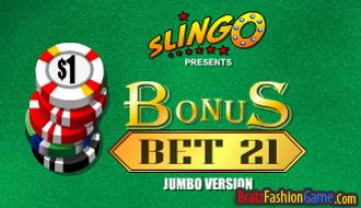 Slingo Bonus Bet 21 Blackjack