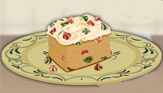 Cranberry christmas fudge