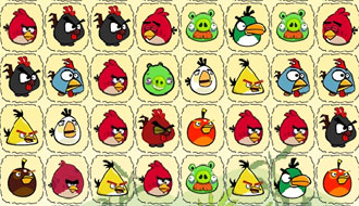 Angry birds connect puzzle